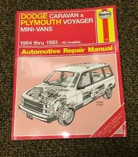 .HAYNES Dodge Plymouth Chrysler Mini-Vans 1984-1993 Repair Manual
