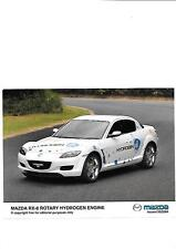 "MAZDA rx-8 motore rotativo idrogeno PRESS PHOTO ""brochure"" correlati MARZO 2004"