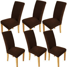 6x Stretch Super Fit Chair Cover Dining Room Seat Slipcover Protector Removable
