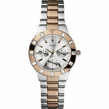 GUESS ROSEGOLD AND STEEL ANALOG WOMEN'S WATCH (W14551L1)