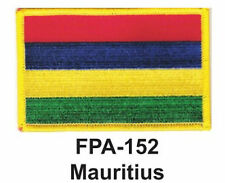 "2-1/2'' X 3-1/2"" MAURITIUS Flag Embroidered Patch"
