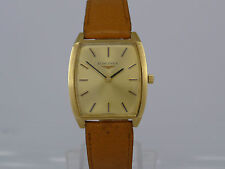 Vintage Swiss Longines 18K solid gold manual wind deco dressing watch