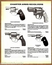1991 CHARTER ARMS Police Undercover 38 Special  Off-Duty Pathfinder REVOLVER AD