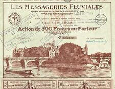 France Shipping Company stock certificate 1927 River Transport
