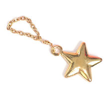 solid 14k yellow gold star 9mm charm puffy pendant 15mm 5/8""