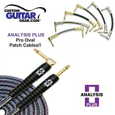 Analysis Plus 1ft Pro Oval Studio Guitar Patch Cable with Straight/Angle Plugs