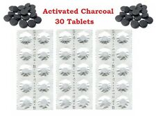 30 Activated Charcoal Pills 250 mg - Digestion Aid, Detox, Heartburn, Wind