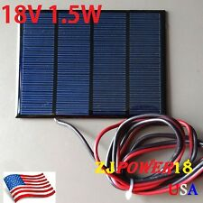 1PC 1.5W 18V 100mA Mini Solar Panel Module Solar System Solar Epoxy Cells Charge