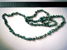167cts Turquoise Plain Medium Nuggets Approx From 3x1 to 10x2mm, 86cm Strand.