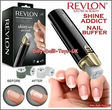 New REVLON Shine Addict Nail Buffer Electric Buff & Polisher With 4 Rollers