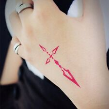 Anime Fate Stay Night Fate Zero Saber Cosplay Temporary Waterproof Tattoo