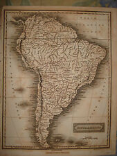 1816 ANTIQUE ARROWSMITH SOUTH AMERICA MAP ARGENTINA NR