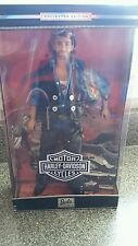 NIB Barbie Collectibles Harley Davidson Motorcycles Ken Doll & Stand 1999 Mattel