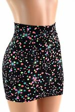 LARGE Galactic Gumball Spandex Bodycon Mini Skirt Clubwear Ready to Ship!
