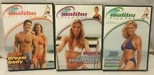 3 Malibu Pilates workout exercise fitness DVD lot, total body 20 minute mari's