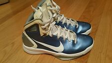 NIKE HYPERDUNK 2010 TB MENS SZ 9.5 CATOLINA BLUE BASKETBALL SHOES VINTAGE zoom