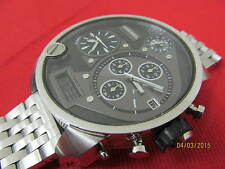 Diesel 3 Bar - Men's 4 Time Zone Watch - Stainless Band - Very Good