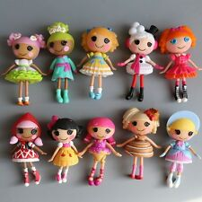 Lot of 8pcs Cute Mini Lalaloopsy Dolls Small Toys Kids Gift Decor Collections