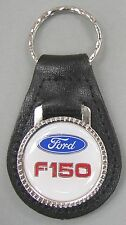 White Ford Oval F-150 Truck Black Leather USA Keyring 1988 1989 1990 1991 1992