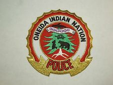 Vintage Oneida Indian Nation Police Force Department Embroidered Iron On Patch