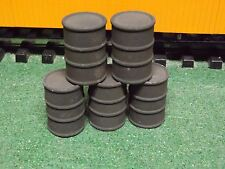 G SCALE oil drums army green 1/24 SCALE SET 0F 5