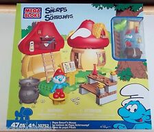 MEGA BLOKS - THE SMURFS - PAPA SMURF'S HOUSE - #10752 - 47 PCS - BNIP,MINT,VHTF!