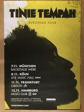TINIE TEMPAH  2016  TOUR   - orig.Concert Poster -- Konzert Plakat  A1 NEU