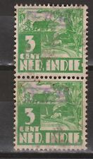 Indonesia Sumatra 18a OVERPRINT 821v pair verticaal used Japanse bezetting