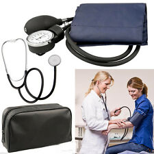 New Blood Pressure Cuff Stethoscope Sphygmomanometer Kit Set Home Use Hot