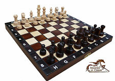 SUPERB WOODEN CHESS SET 30x30cm !!! STUNNING HAND CRAFTED CHESSBOARD & PIECES!!!