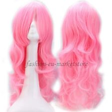 60-100CM Long Straight Curly Wave Wig Cosplay Full Wigs Halloween Orange White