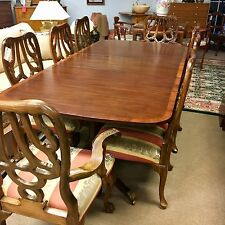 """Kittinger Vintage Signed Dining Room Set Table And 8 Chairs Extendable 104"""""""