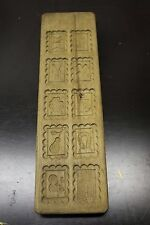 Beautiful Antique Wooden Cookie Mold Gingerbread Speculaas Backing Hand Carved