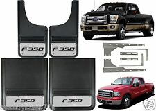 "Front 12x23"" + Rear 21x24"" Ford F-350 Logo Truck DUALLY Mud Flaps New Free Ship"
