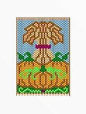 Wheat And Pumpkin Harvest Beaded Banner Pattern