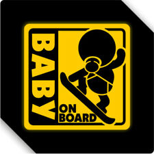 3M Reflective Baby On Board Magnet Sticker Car Sticker Decal 12x12cm Type H