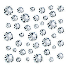 200 KOREA 2.4mm Cystals Rhinestones Foiled Flat Back Nail Art Gems CLEAR