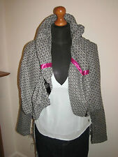 LULU & AND RED bubble blazer JACKET COAT UK 8-10 steampunk tweed