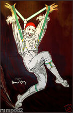 Vintage  Art Deco Painting/Jester/Clown Poster/Jumping Jester/11x17 inches