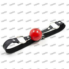 PU Leather Harness Mouth Ball Gag Costume Soft Rubber Ball Bondage Restraints