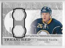 12/13 UD ARTIFACTS TREASURED SWATCHES GAME JERSEY Thomas Vanek #TSVA