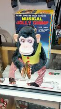 1960s DAISHIN MUSICAL JOLLY CHIMP WORKING GOOD WITH BOX JAPAN