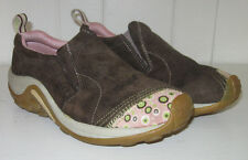 MERRELL Women's Jungle Moc Blip Brown and Pink Suede Leather Slip On Shoe Sz 7