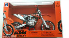 COLLECTABLE KTM SXF 450 2014 MOTOCROSS ORANGE DIECAST MODEL BIKE PRESENT 1:10