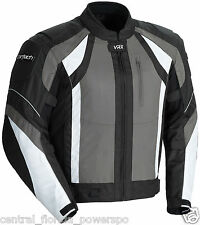 Cortech VRX Textile Mens Motorcycle Jacket Black Grey White SIZE MEDIUM