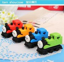4 Pcs Cartoon Thomas Train Shape Rubber Pencil Eraser School Stationery Kid Gift