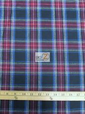 "TARTAN PLAID UNIFORM APPAREL FLANNEL FABRIC - Black/Red - 60"" WIDE BY THE YARD 3"