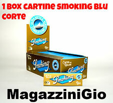 50 LIBRETTI CARTINE SMOKING BLU CORTE 3000 foglietti, 1 BOX (MG)