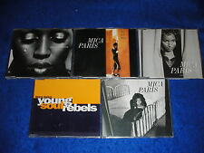 lot 5 CD maxi single MICA PARIS one TWO IN A MILLION young soul rebels I BEFORE
