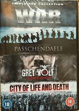 War Triple DVD Collection (DVD) (NEW SEALED)passchendaele,grey wolf,city of life